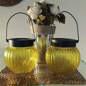 Other - 2 GLASS GLOBE SOLAR OR BATTERY POWERED LANTERNS
